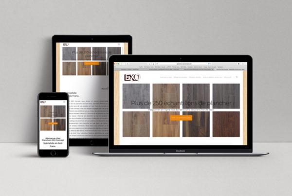 Modernisation du site et création d'un soumissionnaire en ligne pour Planchers EXO-Concept