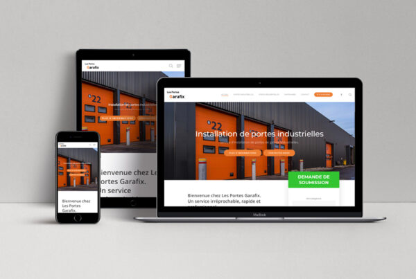 Création du site web pour Les portes Garafix